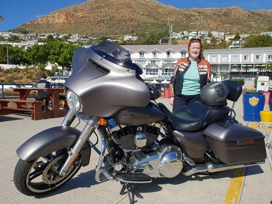 Skaris Touring: Harley in Simon's Town.