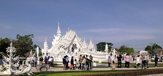 Chiang Rai Province, Thailand: Wat Rong Khun.White Temple