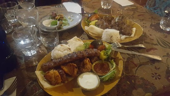 Sofra Turkish Cuisine: Mixed platter and lamb cutlets both favs