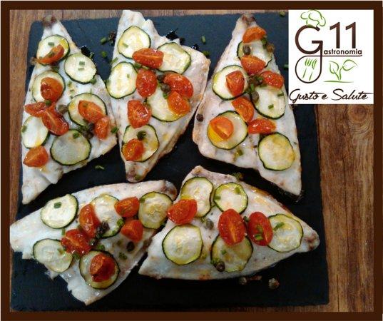 GASTRONOMIA 11 Gusto e Salute: Filetto di orata con zucchine e pomodorini e capperi