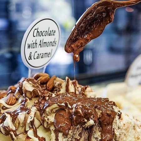 Choclate with Almonds ice-cream