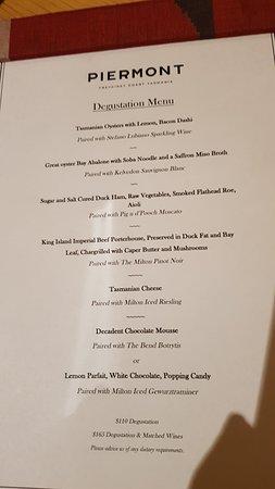 Swansea, Australia: Degustation menu - one of the best meals I've ever had!