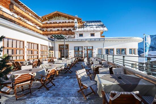 Hochsolden, Austria: Terrasse