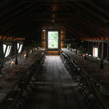 Andes, NY: Dinner in the Red Barn