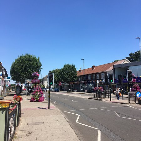 Downend main drag in a heatwave