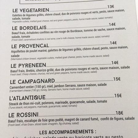 Carte Restaurant Bordeaux.La Carte Picture Of Le Riva Bordeaux Tripadvisor