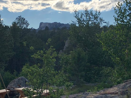 Under Canvas Mount Rushmore: View from lobby deck