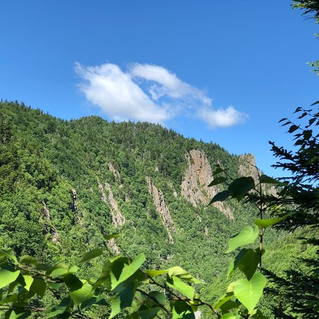 Dixville, Нью-Гэмпшир: Outstanding views along the trail and at Sanguinary Summit