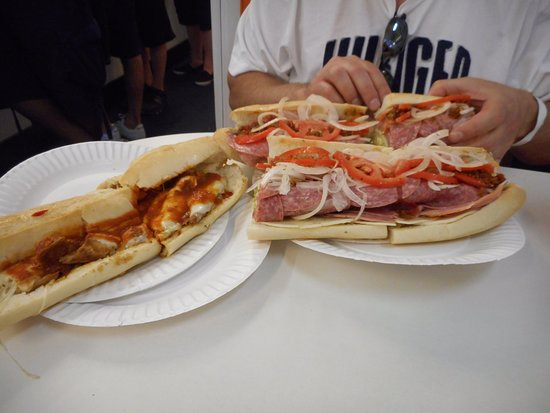 White House Sub Shop: Full Italian and half size chicken parm