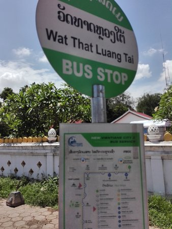 Le Thatluang d'oR Boutique Hotel: The nearest bus stop from hotel