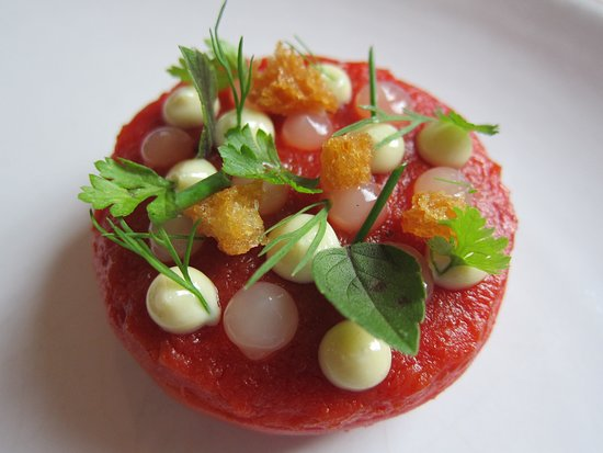 Amazing tomato with microherbs