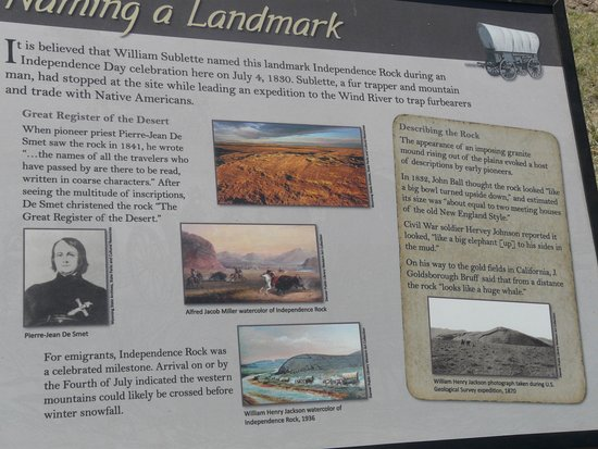Alcova, WY: Plaque at the site