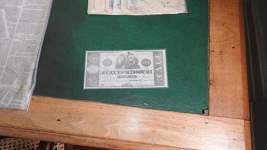 Jesse James Bank Museum: Missouri Bond