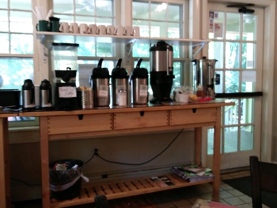 Porch and Pantry: Cheery Self-Serve Coffee Area!