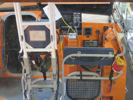 Anstruther Lifeboat Station: looking into the cab