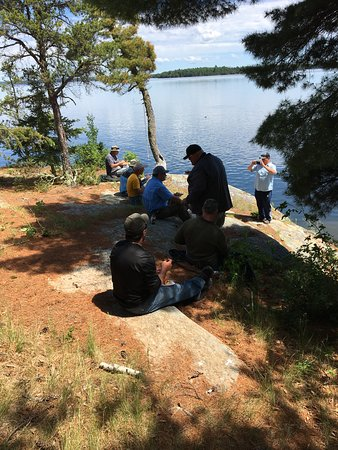 Eagle Lake, Kanada: island shore lunch