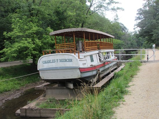 Maryland: Canal boat on display here