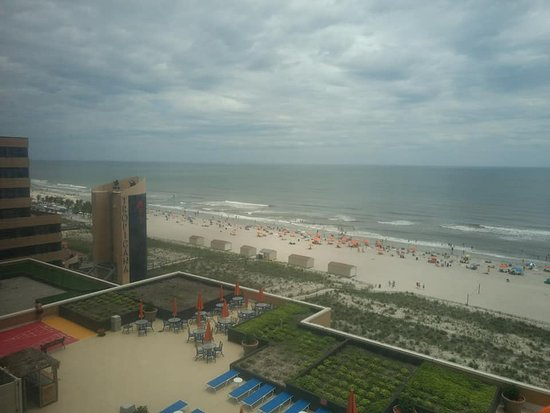 Tropicana Atlantic City: View from side window of living room suite