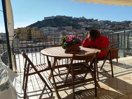 Annunziata Bed and Breakfast: Terrace - Vomero hill's view