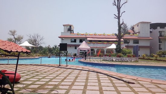 Pool area in the evenings picture of khanvel resort - Hotels in silvassa with swimming pool ...