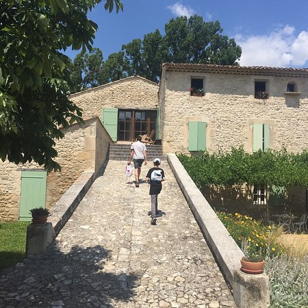 Cereste, France: walking up to the La Feniere gite