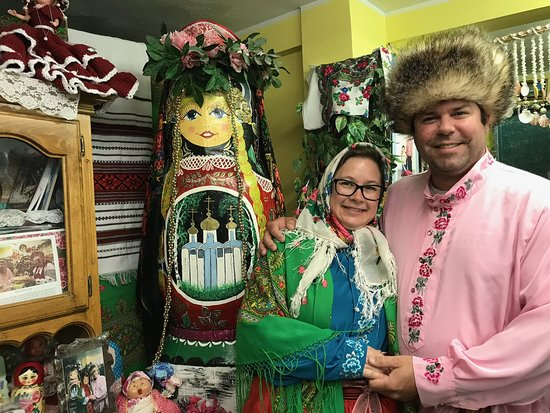 Nikolaevsk, AK: Dressing in traditional clothes with Nina!