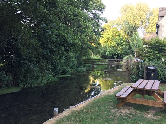 Ampney Crucis, UK: The garden and brook
