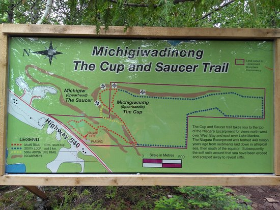 Cup and Saucer trail map