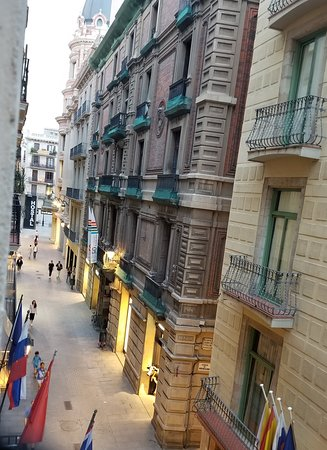 Hotel Cortes: View from second floor.