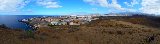 Costa del Silencio, Spain: panorama on top of the hill