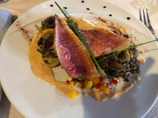 Nissan-lez-Enserune, France: Filets de rouget
