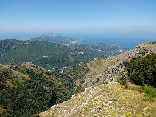 Villaggio Monte Faito, Italie : vista costiera sorrentina