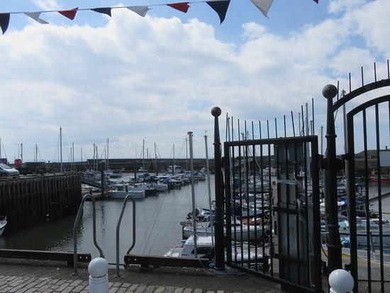 Anstruther Harbour: looking out at the Marina