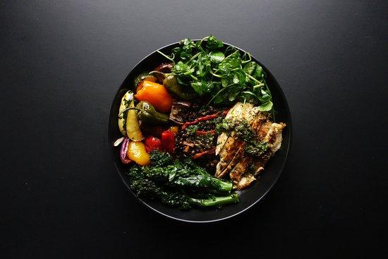 Grain Kitchen: Mediterranean Beluga Bowl (GF)  with Chicken