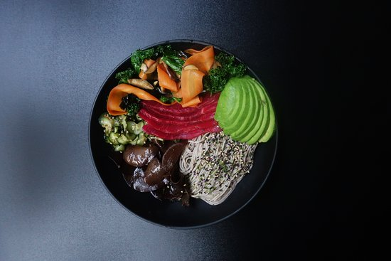 Grain Kitchen: Japanese Soba Noodle Bowl with Salmon