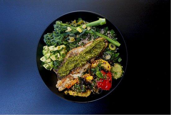 Grain Kitchen: Summer Bowl (GF) with Sea Bass