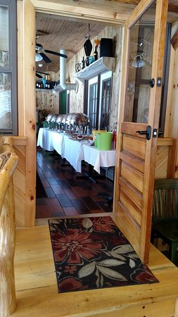 Elizabethtown, NY: The Thanksgiving Buffet set up