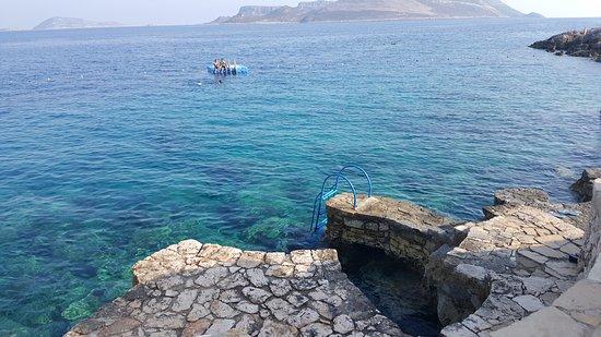 Cappari Hotels Aquarius Hotel: The ocean swimming area