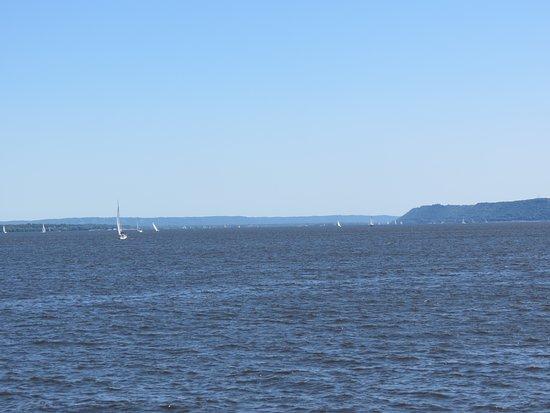 Pearl of the Lake Paddleboat: Sailboats on the lake