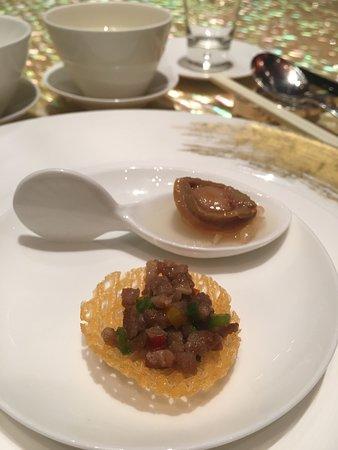 The Eight: 甜椒炒豬肉和鮑魚柚子凍
