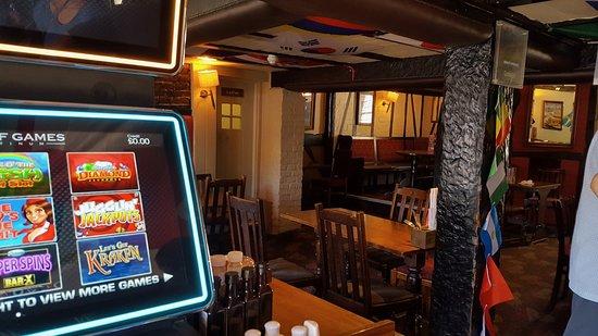 The Green Man: Interior of pub
