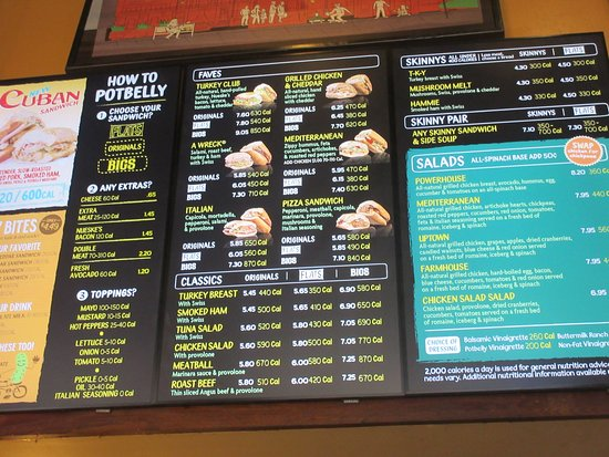 A Lot To Choose From Picture Of Potbelly Sandwich Shop Chicago Tripadvisor