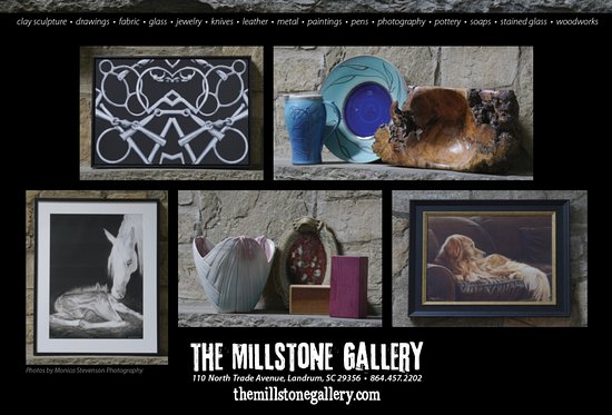 Landrum, Южная Каролина: The Millstone Gallery - Fine Art, Fine Crafts and Woodwork