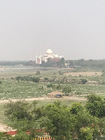 Delhi to Agra and Taj Mahal Private Day Trip by Express Train with Lunch: View from balcony at the Agra Fort (1st pic)