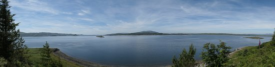 Arduaine, UK: Panorama from the viewpoint