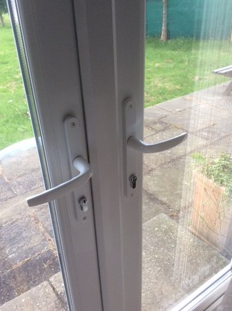 Sidford, UK : locked french doors