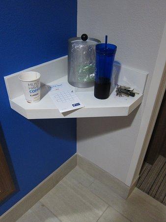 Lecanto, FL: Ice bucket cubby near the door