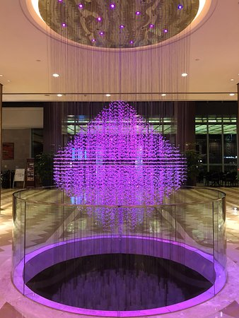 Lobby Color Changing Chandelier