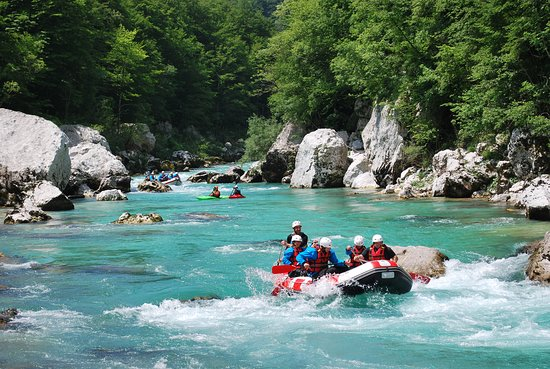 Бовец, Словения: At the end of rafting trip on the emerald Soča river