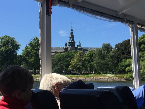 A view of Nordiska museet from the Ocean Bus